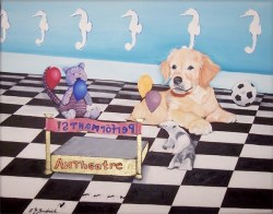 """""""The Theater Comes To Town"""" 20"""" x 16"""" NFS"""