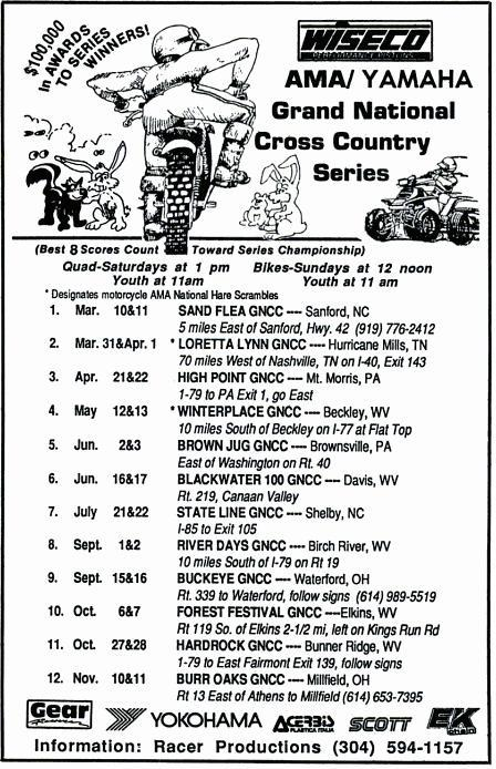 GNCC Events from 1975 – 2014