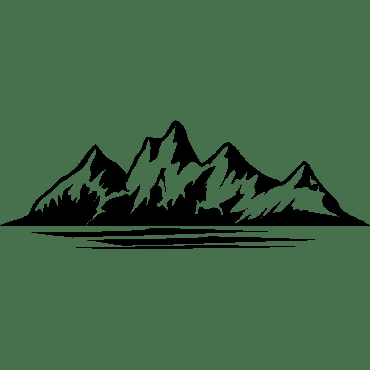 Mountains Range Water Icon