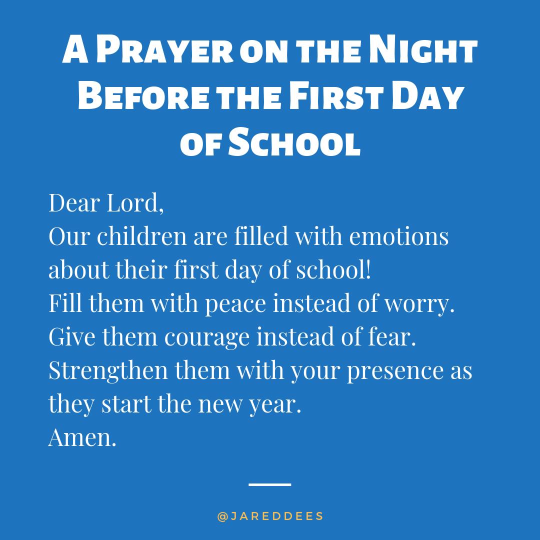 Night Before School Prayer