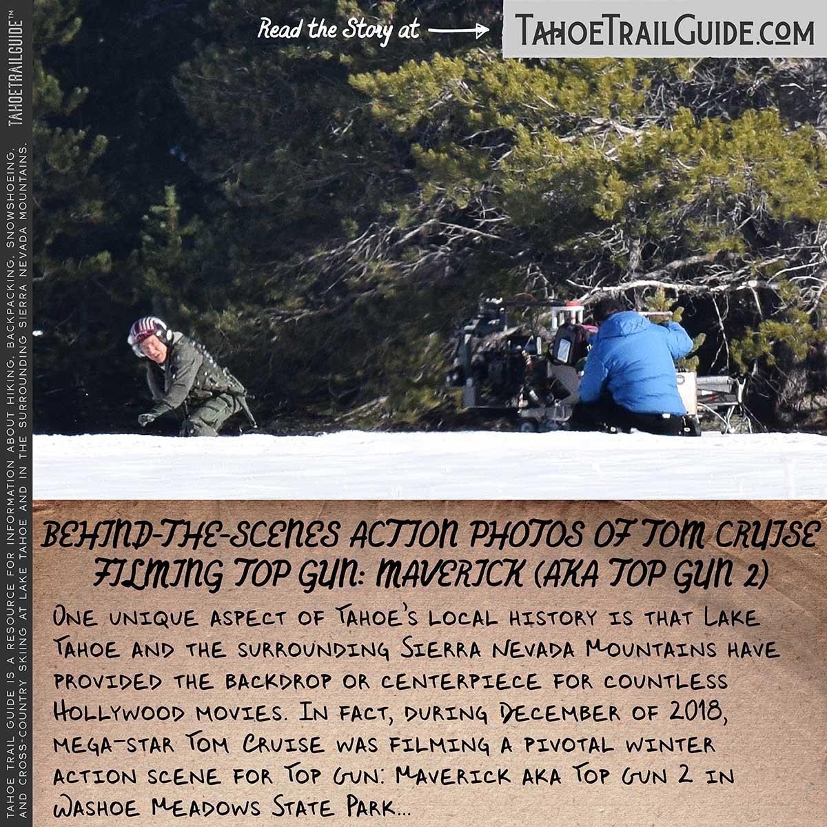 Tom Cruise filming Top Gun: Maverick in snow
