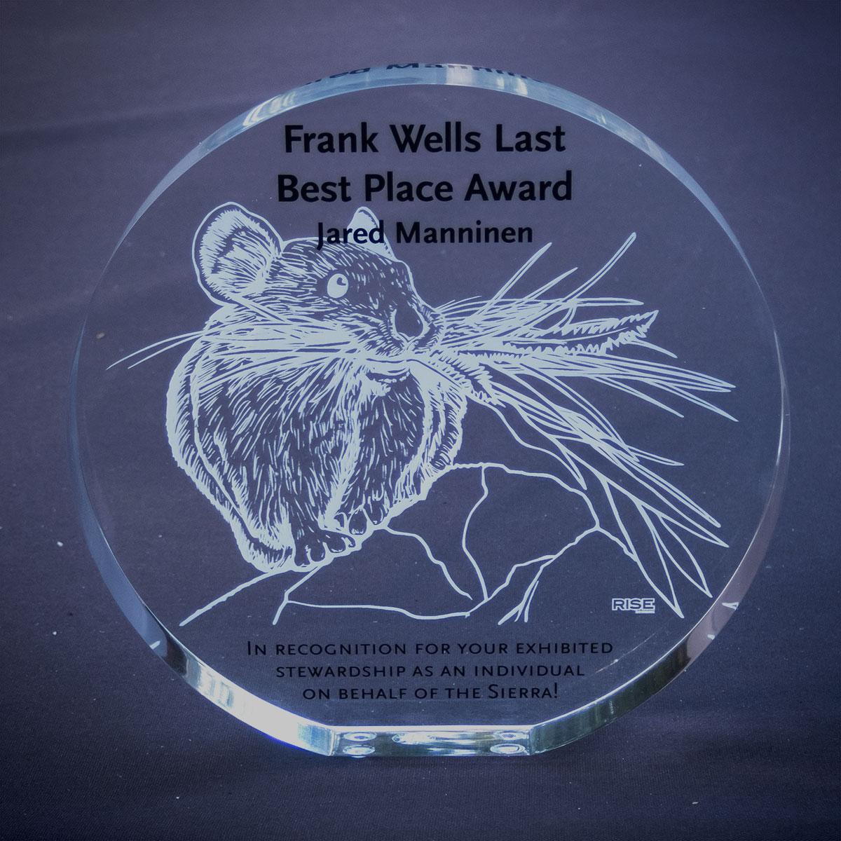 2020 Frank Wells Last Best Place Award - Jared Manninen
