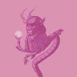 Bubblegum Dragon God Original Illustration