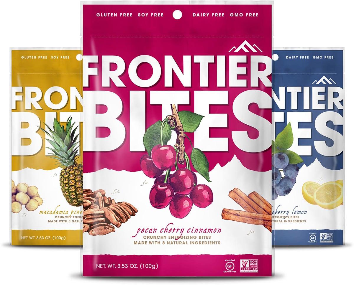 Frontier Bites Granola Packaging Design (Front)