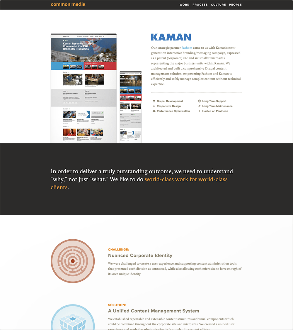 Common Media Site (Case Study Page)