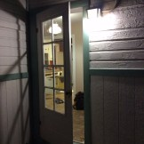 The refurbished storm door in action (10/17)