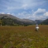 Bud riding through the Southern Absarokas, Wyo.