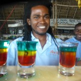 Natty and his Rasta Shot at a beach side bar in Zanzibar