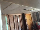 ...then hung a temporary ceiling. Thanks Scott!