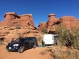 The camping scene in November of 2020