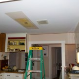 Took out old kitchen ceiling light