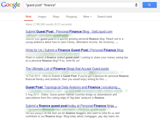 guest post finance Google Search A tip to finding guest post opportunities