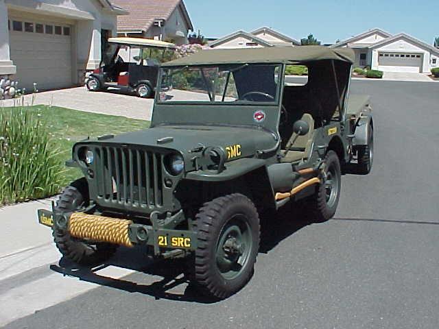 World War Ii Jeep Trailer Before Retored To Usmc Wwii Jeep Standards