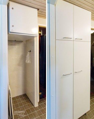 Kylpyhuoneen kaappi - Lastulevy