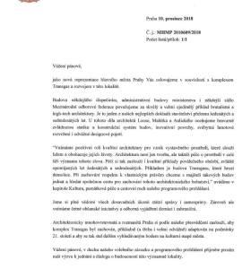 Praha vyzývá majitele Transgasu k jednání o zachování budovy