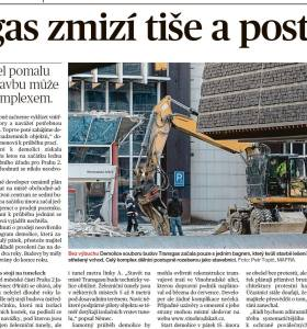 Transgas zmizí tiše a postupně / Mladá fronta Dnes, Praha, 19. 2. 2019