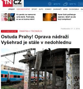 TN.cz: Ostuda Prahy! Oprava nádraží Vyšehrad je stále v nedohlednu