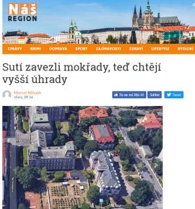 nasregion.cz: Sutí zavezli mokřady, teď chtějí vyšší úhrady