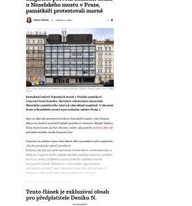 Deník N: Magistrát posvětil demolici domu u Nuselského mostu v Praze, památkáři protestovali marně