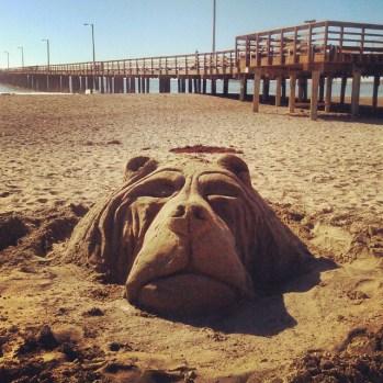 Bear_Sand Sculpture