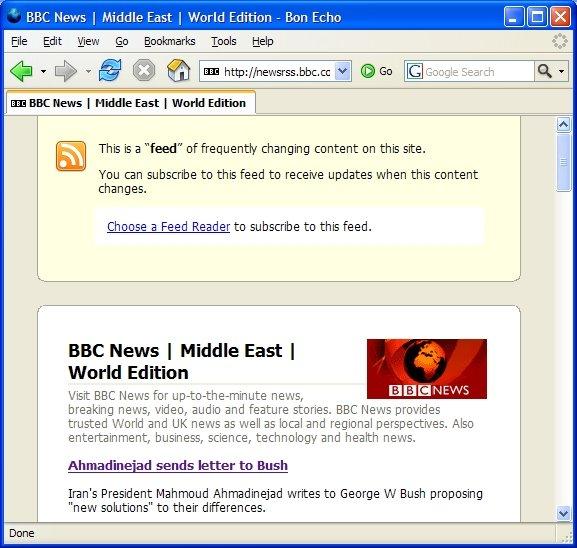 Firefox 2.0 Feeds