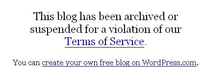 Blog Suspendido