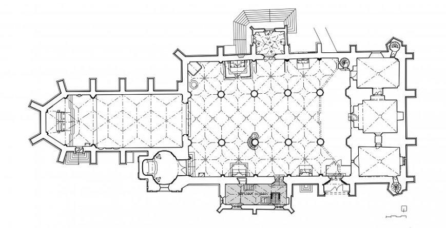 Jednoduchý zásah, umožňujúci oddeliť adoračný priestor kaplnky pre intímne rozjímanie i v časoch keď je Dóm svätého Martina sprístupnený k prehliadkam verejnosti.