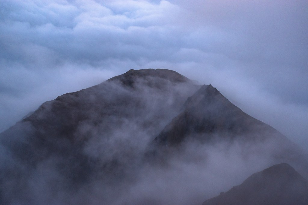 Fine Art Photography - Roys Peak in the clouds
