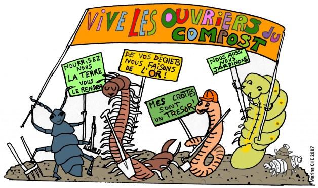 Ouvriers du compost COULEUR