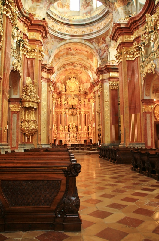 Melk Abbey Church interior