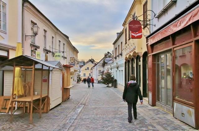 Walking through the town of Melk, Austria