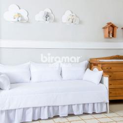 sofa cama usados distrito federal gaming uk kit baba baby enxoval enxovais para bebes 7 pecas com saia lollipop ii algodao doce branco