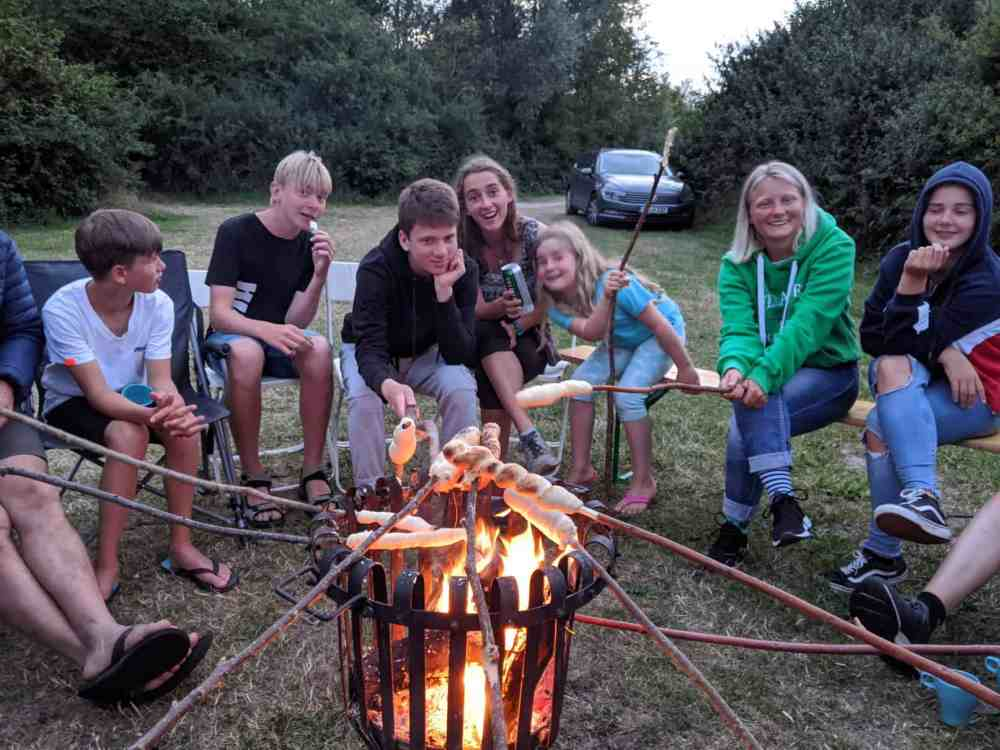 Familienurlaub Holland Stockbrot