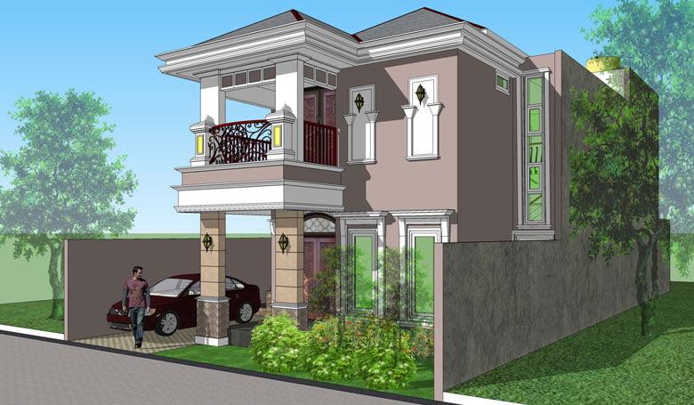Desain Rumah Ukuran 6x8 3 Kamar Tidur