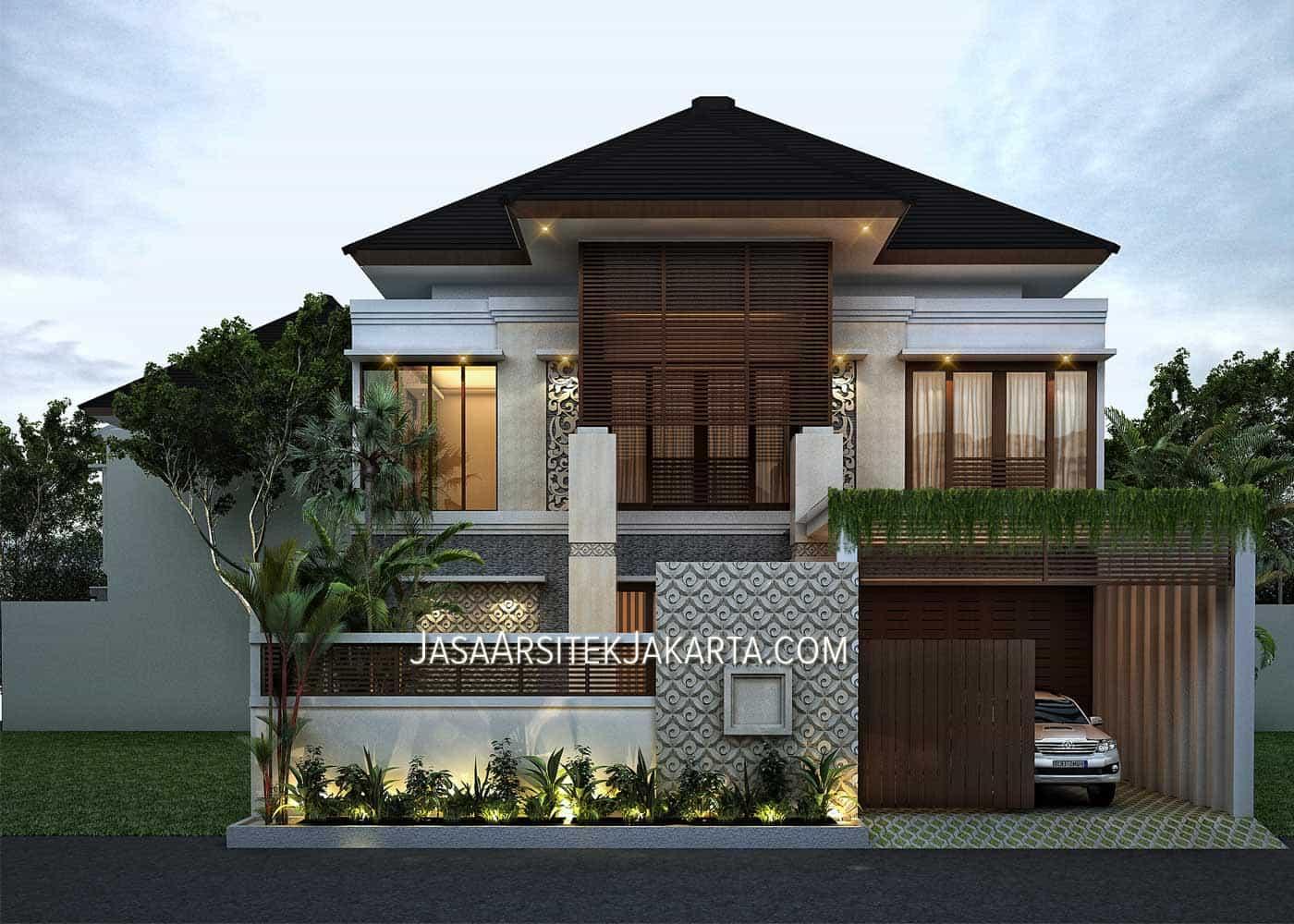 Desain Rumah Mewah Klasik 1 Lantai