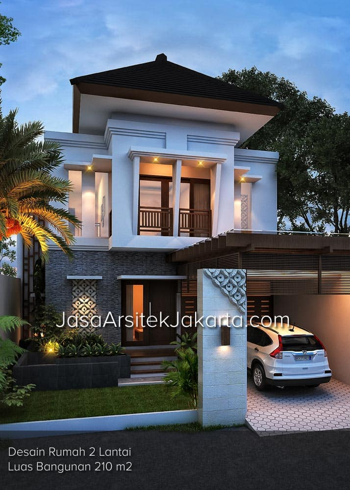 Desain Rumah 2 Lantai Luas Bangunan 210 m2 Bp Edwin Jakarta  Jasa Arsitek jakarta