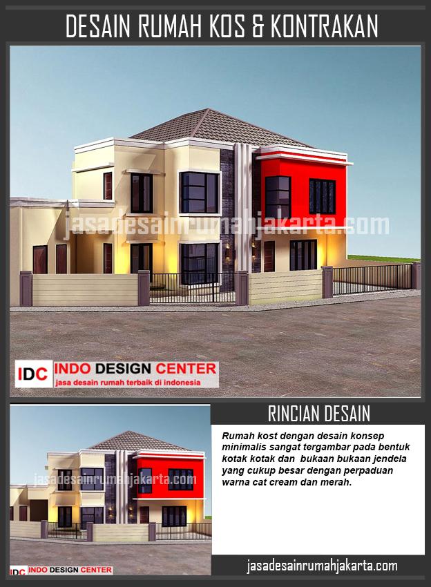 desain rumah kost minimalis 2 lantai jasa desain rumah