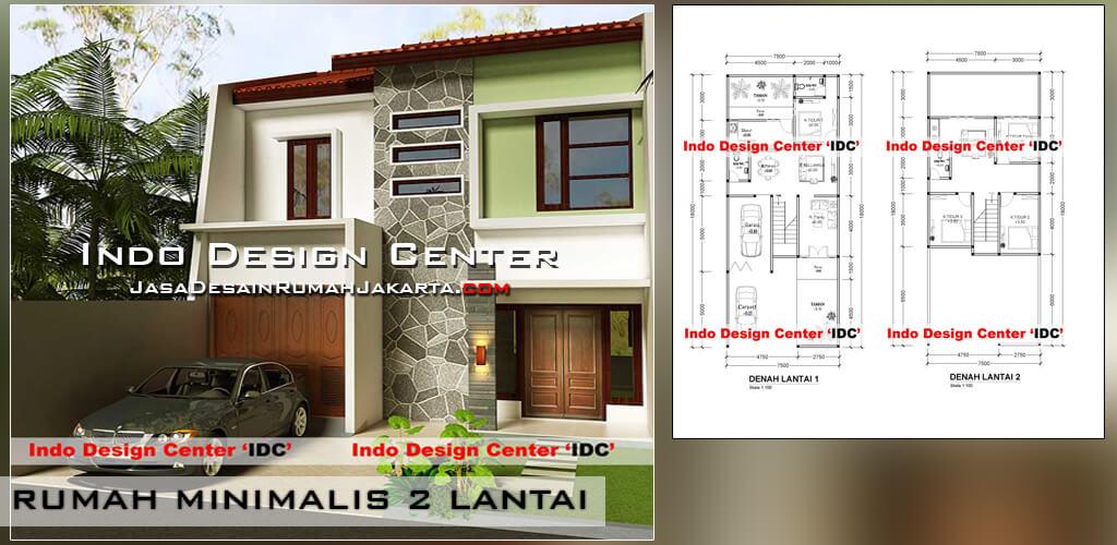 jasa desain arsitek rumah minimalis 2 lantai di jakarta