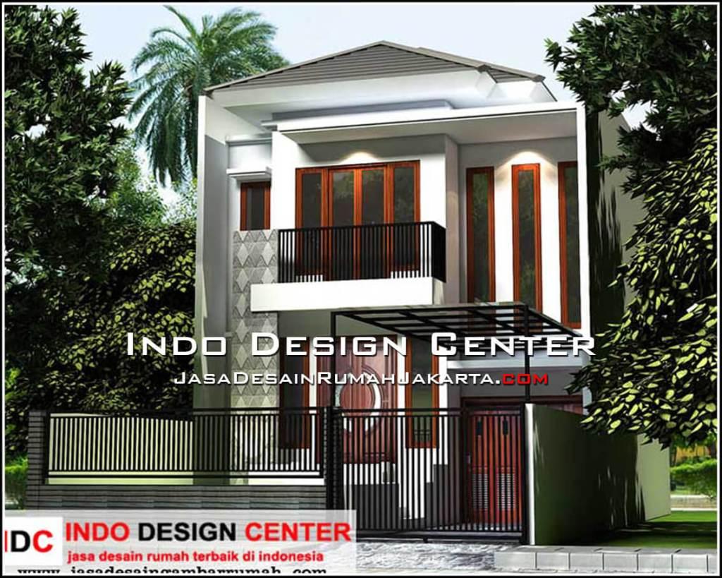 Tampak Depan Rumah Minimalis 2 Lantai Lebar 7 Meter Desain Rumah