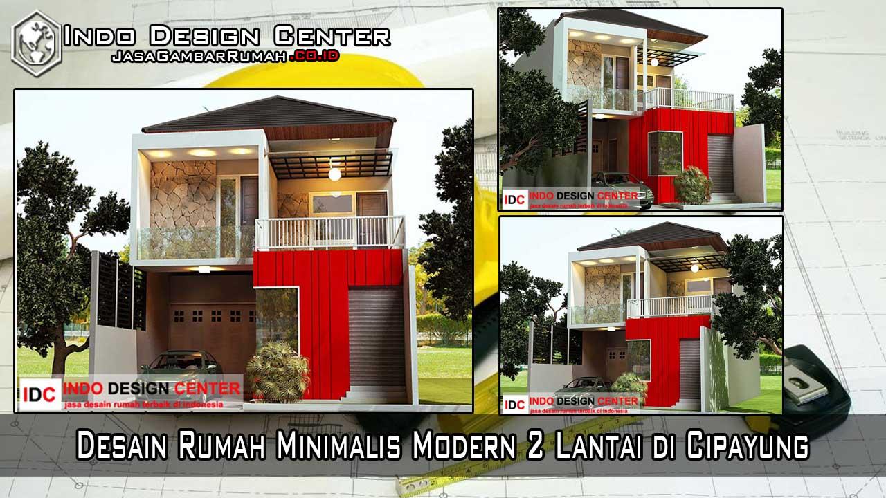 Desain Rumah Minimalis Modern 2 Lantai Di Cipayung