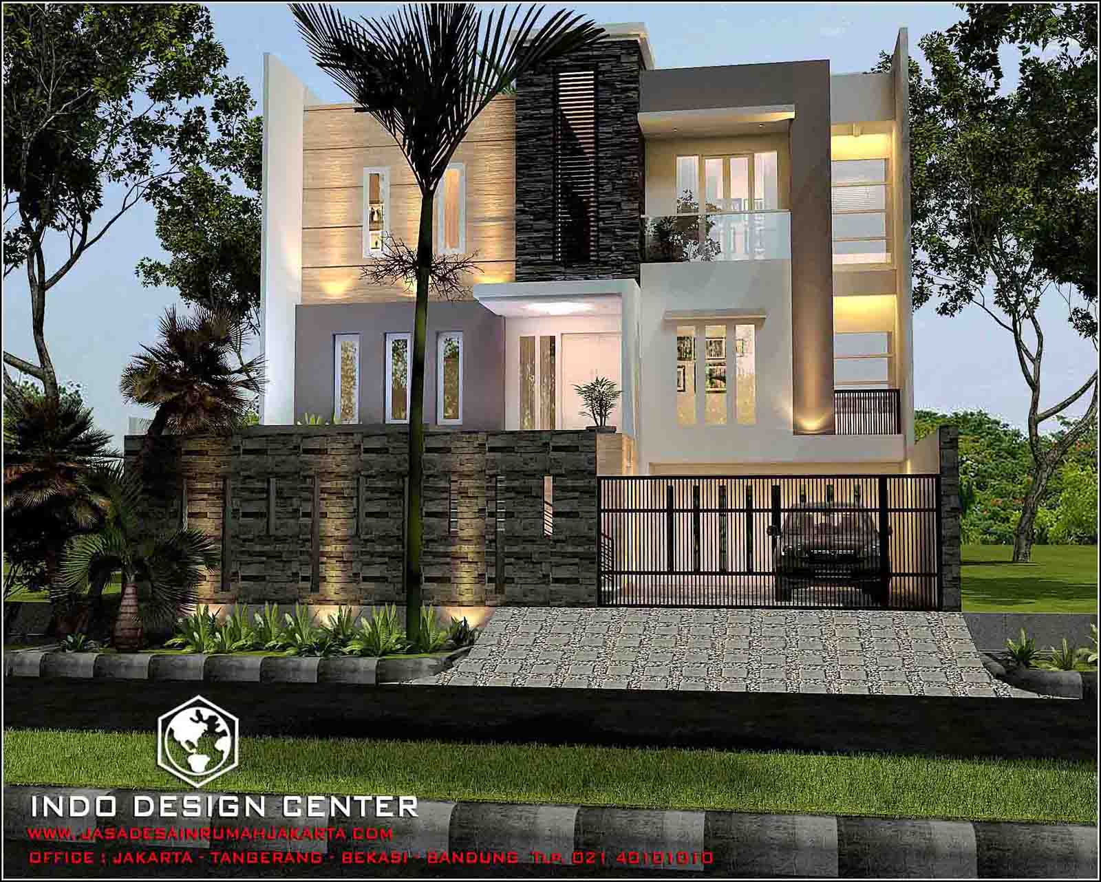 Rumah Minimalis 3 Lantai Tampak 2 Lantai Harga Jasa Desain