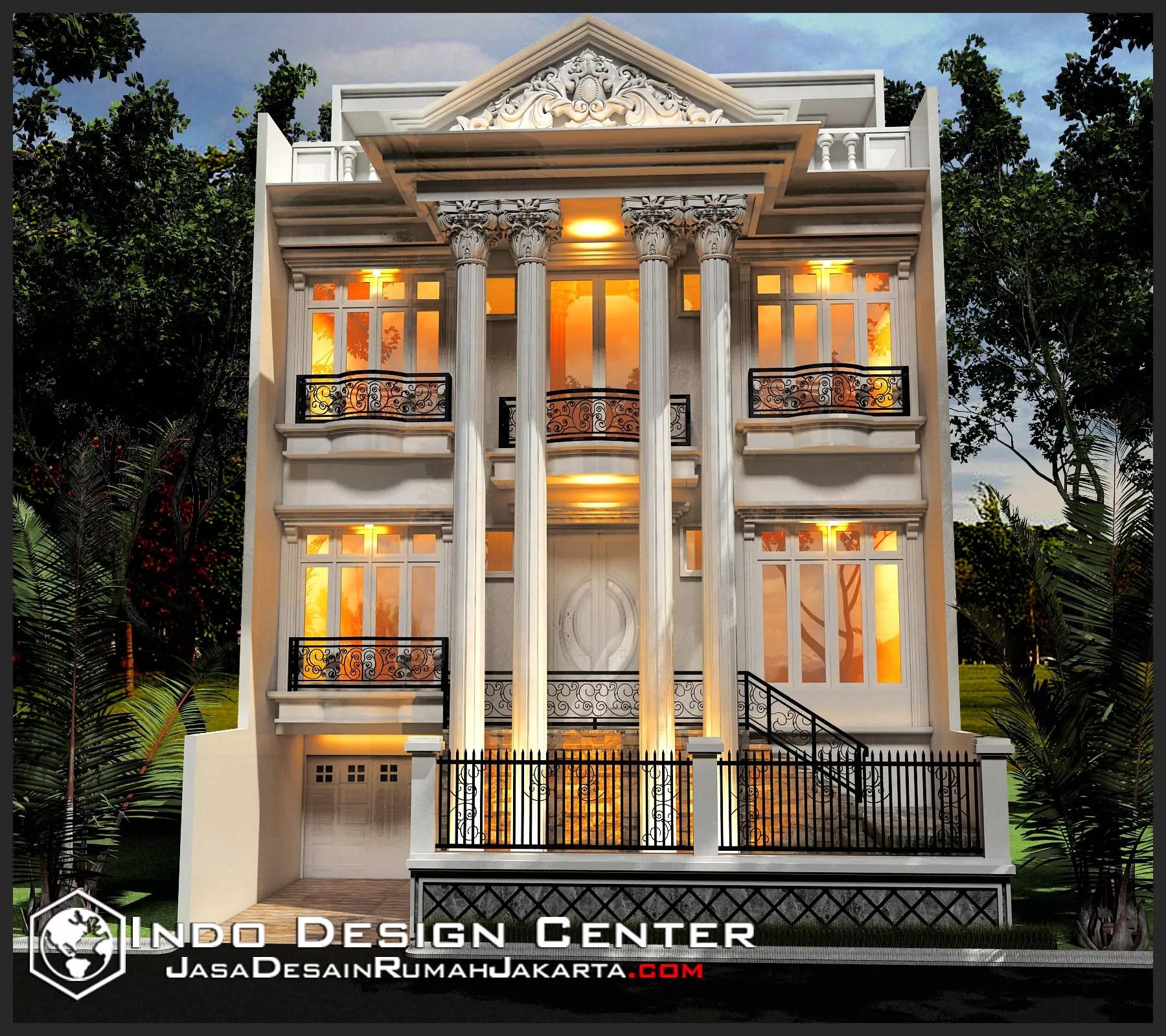 Gambar Rumah Mewah Klasik Ibu Elisa Jasa Desain Rumah Jakarta