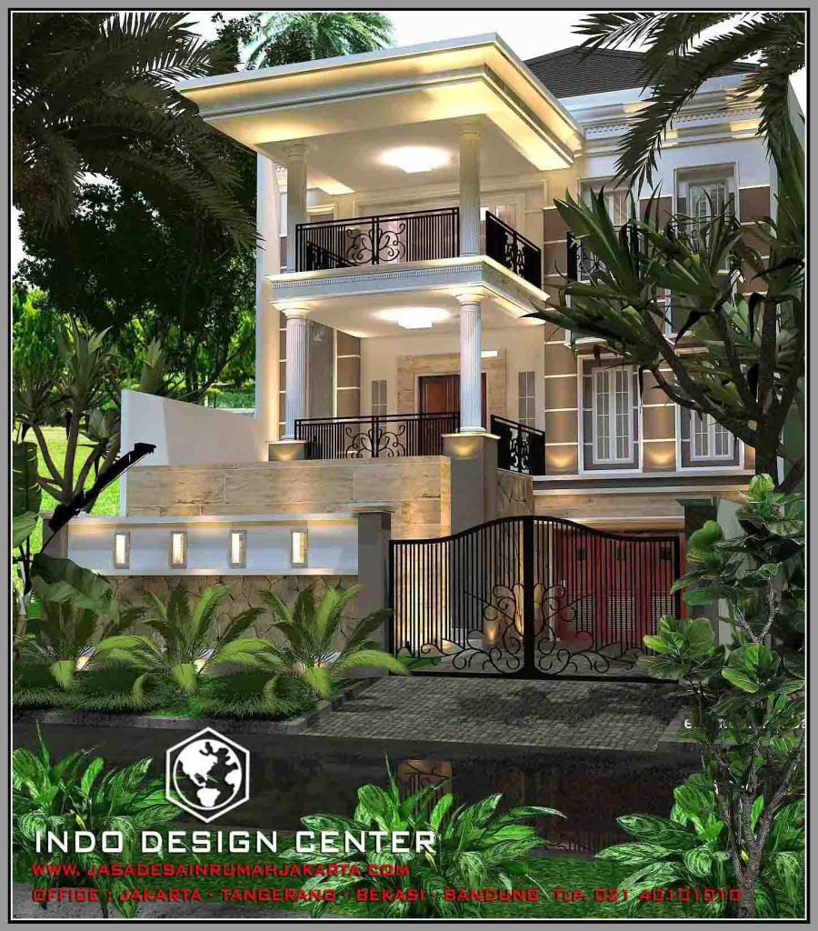 Harga Jasa Arsitek: Rumah Minimalis 3 Lantai Tampak 2 Lantai