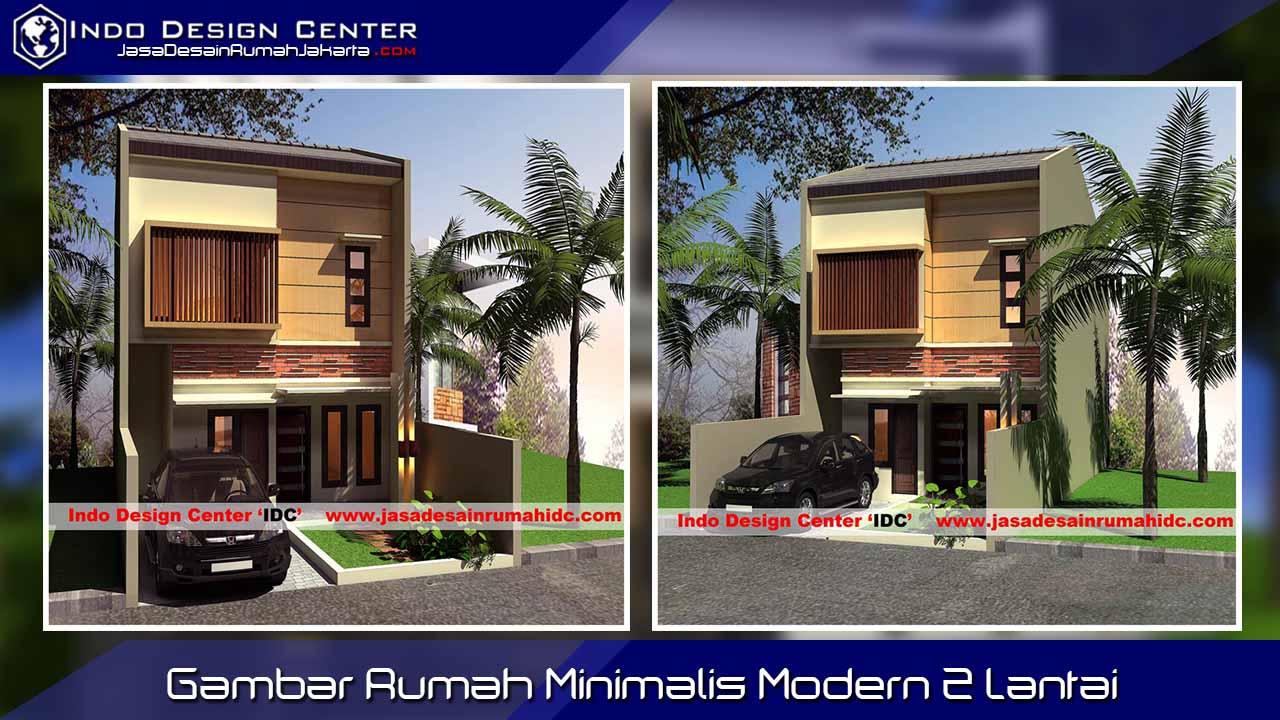 Gambar Rumah Minimalis Modern 2 Lantai Jasa Desain Rumah Jakarta