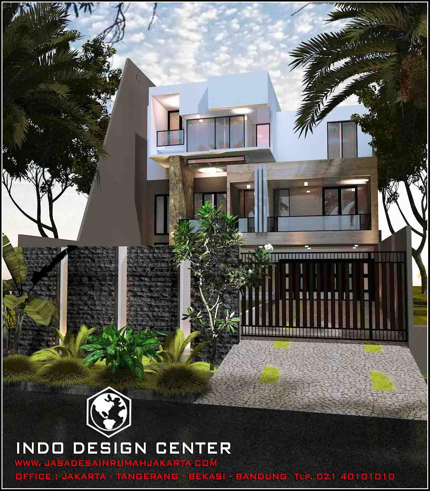 Jasa arsitek rumah di jakarta desain rumah bapak aldo for Arsitek di jakarta