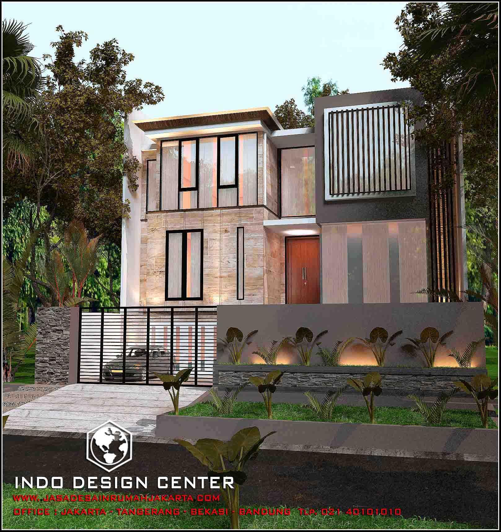 Interior kantor minimalis tropis 3 lantai - Berikut Ini Adalah Desain Rumah 3 Lantai Tampak 2 Lantai Minimalis Karya Arsitek Idc 2017