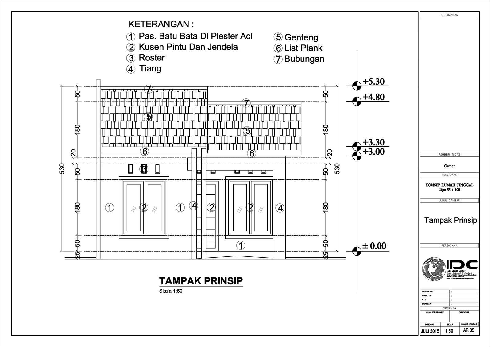 Gambar Kerja Rumah Tinggal Type 55 Jasa Desain Rumah Jakarta