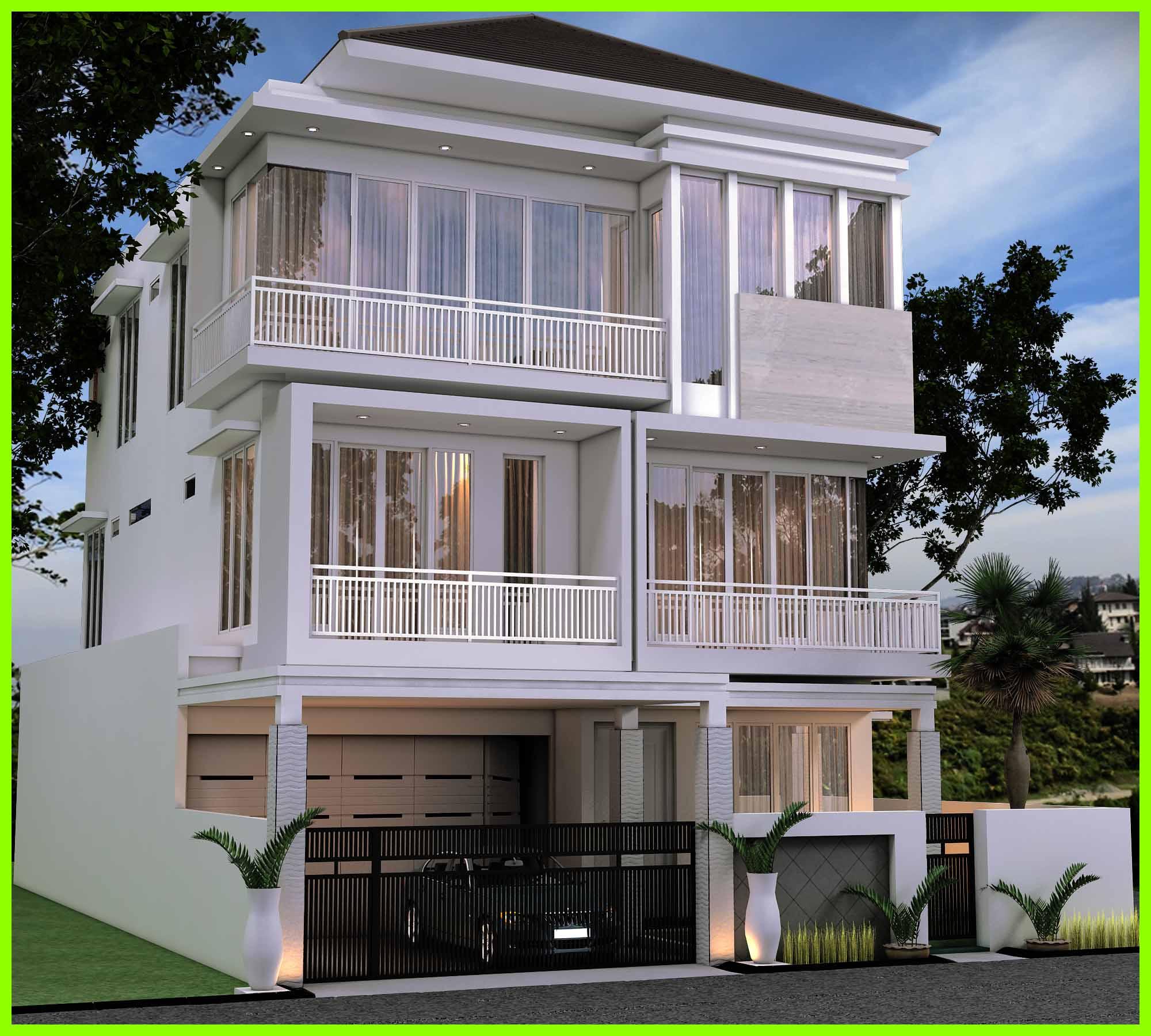 70 Desain Rumah Mewah Minimalis Modern 2 Lantai Desain