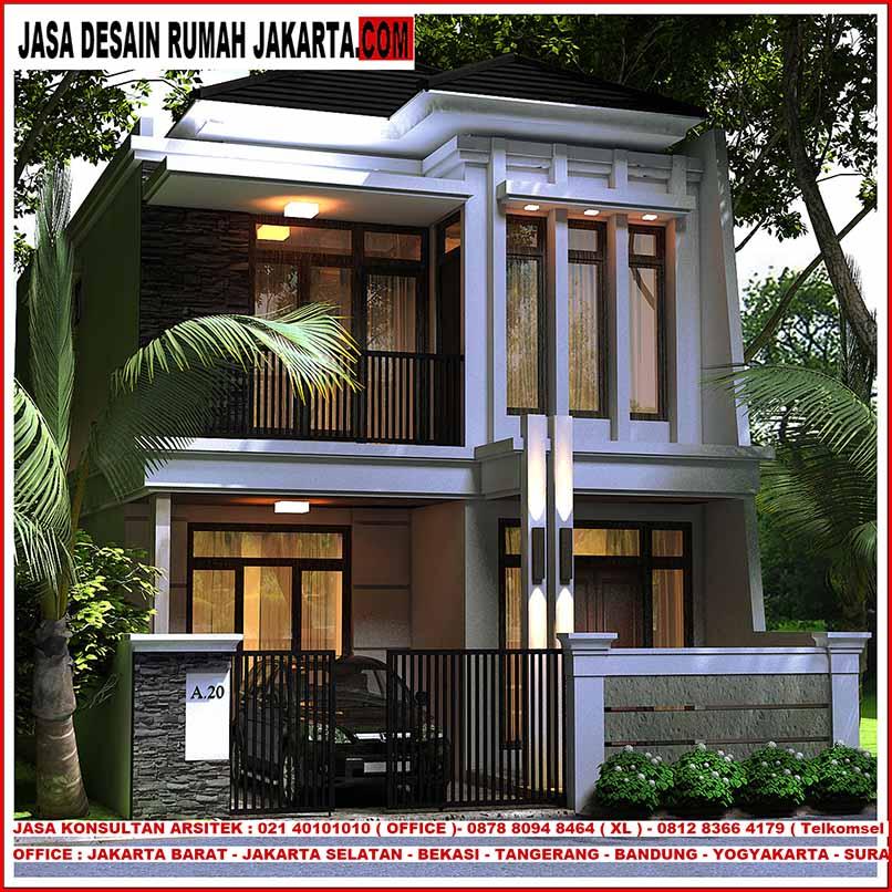 Desain Rumah Lebar 7 x 15 Minimalis Elegan Mewah 2 Lantai ...