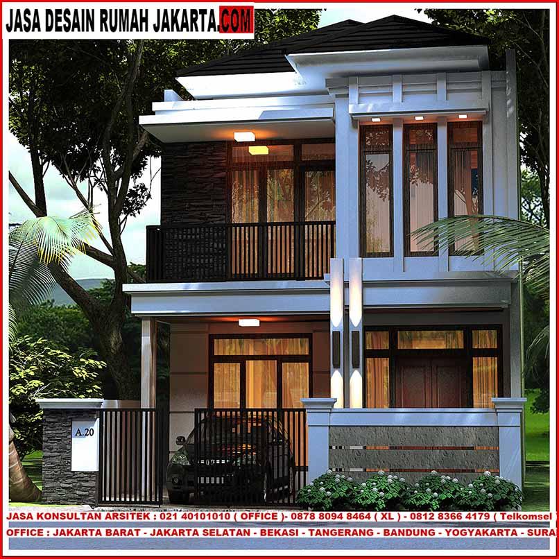 Desain rumah lebar 7 x 15 minimalis elegan mewah 2 lantai for 10 meter frontage home designs